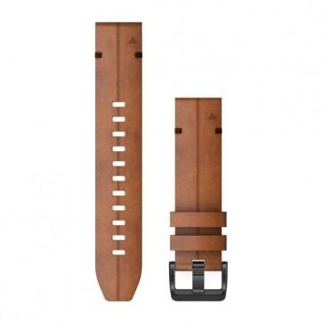 Garmin Kožený remienok QuickFit™ 26 na zápästie fénix 6X - Chestnut Leather (ND)