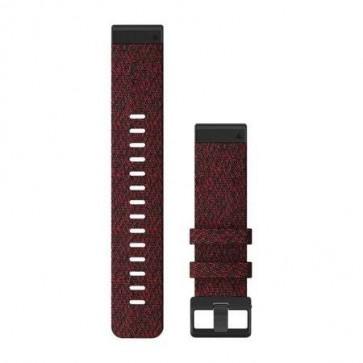 Garmin Nylonový remienok QuickFit™ 22 na zápästie fénix 6 - Heathered Red Nylon (ND)