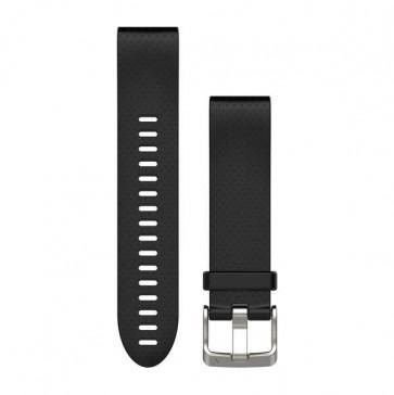 Garmin silikonový remienok QuickFit™ 20 na zápästie fénix 5S - čierny (ND)