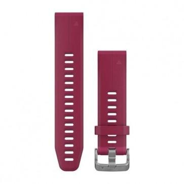 Garmin silikonový remienok QuickFit™ 20 na zápästie fénix 5S (Plus) - červený Cerise (ND)