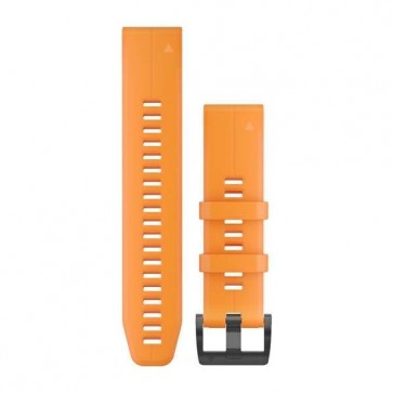 Garmin silikonový remienok QuickFit™ 22 na zápästie pre fénix 5 (Plus) a Forerunner 935 - oranžový Spark (ND)