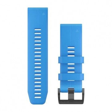 Garmin silikonový remienok QuickFit™ 26 na zápästie fénix 3 / 5X (Plus) / tactix - modrý Cyan (ND)