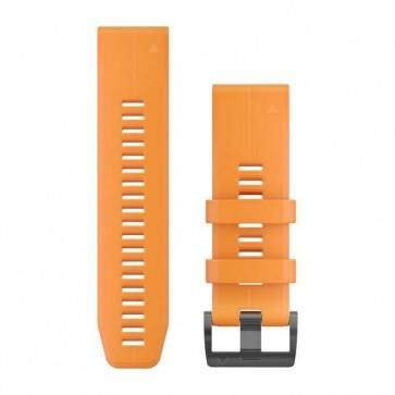 Garmin silikonový remienok QuickFit™ 26 na zápästie fénix 3 / 5X (Plus) / tactix - oranžový Spark (ND)