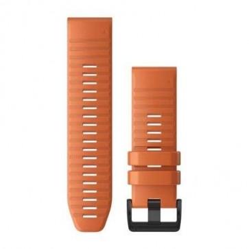 Garmin Silikonový remienok QuickFit™ 26 na zápästie fénix 6X - Ember Orange (ND)