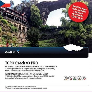 Garmin Topo Czech v3 PRO (2017), microSD/SD karta