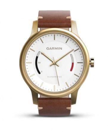Garmin vívomove Premium, Gold oceľové s koženým remienkom