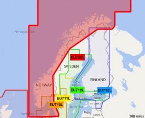 Garmin BlueChart G2 - HXEU720L / Nórsko / LARGE