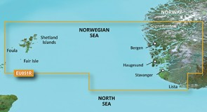 Garmin BlueChart G2 Vision - EU051R /Nórsko Lista-Sognefjorden/ REGULAR