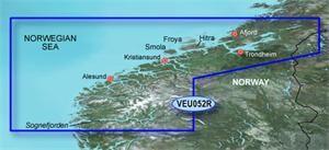 Garmin BlueChart G2 Vision - EU052R /Nórsko od Sognefjorden po Svefjorden/ REGULAR