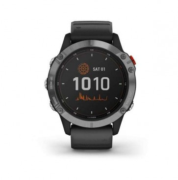 Garmin fenix 6 Solar, Silver, Black Band