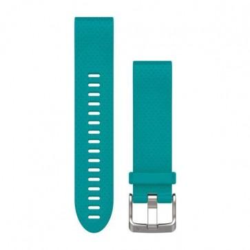 Garmin silikonový remienok QuickFit™ 20 na zápästie fénix 5S - tyrkysový (ND)