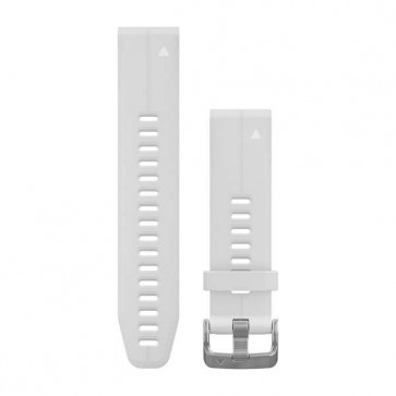 Garmin silikonový remienok QuickFit™ 20 na zápästie fénix 5S (Plus) - biely Carrera (ND)