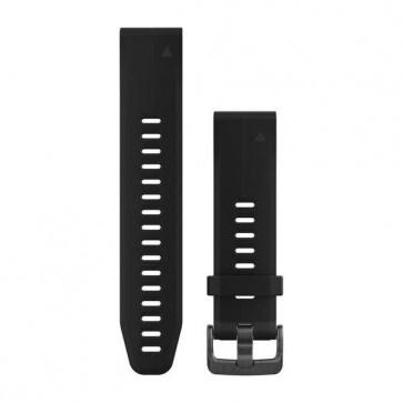 Garmin silikonový remienok QuickFit™ 20 na zápästie fénix 5S (Plus) - čierny (ND)
