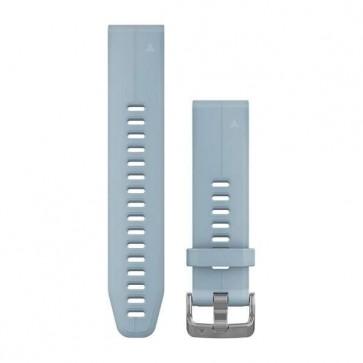 Garmin silikonový remienok QuickFit™ 20 na zápästie fénix 5S (Plus) - modrý Seafoam (ND)