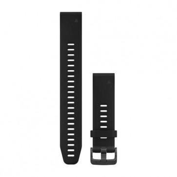 Garmin silikonový remienok QuickFit™ 20 (veľký) na zápästie fénix 5S (Plus) - čierny
