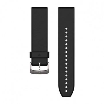 Garmin silikonový remienok QuickFit™ 22 na zápästie pre fénix 5, Forerunner 935 - Black/Silver