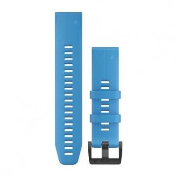 Garmin silikonový remienok QuickFit™ 22 na zápästie pre fénix 5 (Plus) a Forerunner 935 - modrý Cyan (ND)