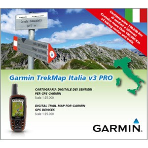 Garmin  TOPO mapa - TrekMap Italia v3 PRO, microSD™/SD™