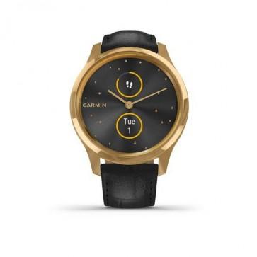 Garmin vivomove Luxe, 24K Gold-Black Embossed, Leather